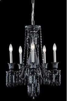 8905 Majestic Collection Hanging Fixture Black Finish (Elegant Cut Jet Black)