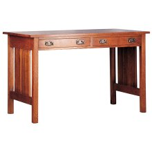 Right Keyboard Drawer, Oak Spindle Library Desk