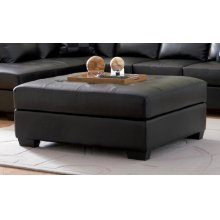 Darie Contemporary Black Ottoman