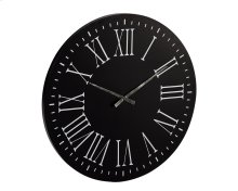 Black Metal Brasage Wall Clock