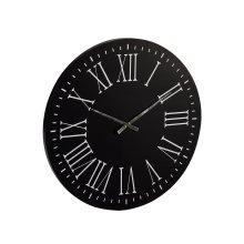 Black Metal Brasage Wall Clock