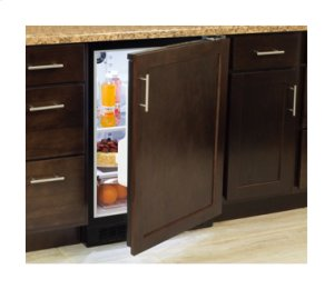 "Marvel 24"" All Refrigerator with Drawer - Solid Stainless Steel Door - Left Hinge"