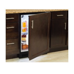 "Marvel 24"" All Refrigerator with Drawer - Solid Panel Overlay Door - Integrated Left Hinge"