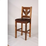 Windy Stables - Bar Stool With Leather Seat, 24 and 30 Inch Product Image