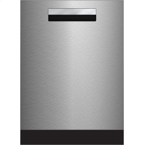 "Blomberg Appliances24"" Tall Tub Integrated Handle Dishwasher 8 cycles top control 3rd rack stainless 45dBA"
