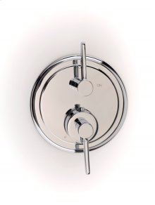 Darby Dual-control Thermostatic Valve with Volume Control Trim - Polished Chrome