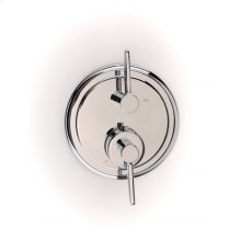Darby Dual-control Thermostatic Valve Trim with Volume Control - Polished Chrome
