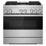 "Jenn-AirNOIR 36"" Dual-Fuel Professional Range with Gas Grill"
