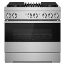 "NOIR 36"" Dual-Fuel Professional Range with Gas Grill"