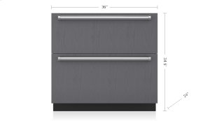 "36"" Designer Refrigerator Drawers - Panel Ready"