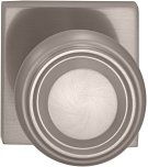Interior Traditional Knob Latchset with Square Rose in (US15 Satin Nickel Plated, Lacquered) Product Image