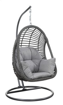 2pc-basket W/cushion/kd Pole & Rnd Base (1 Set/2 Ctns) Spuncrylic 7101-71 Sketch Grey
