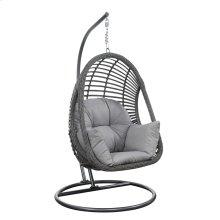 Hanging Basket Chair W/cushion/kd Pole & Round Base