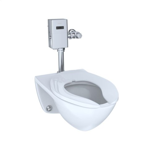 Commercial Flushometer High Efficiency Toilet, 1.28 GPF, Elongated Bowl - Cotton