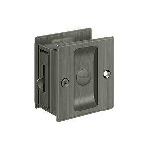 """Pocket Lock, 2 1/2""""x 2 3/4"""" Privacy - Antique Nickel"""