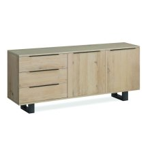 White Oil Large Sideboard Metal Base