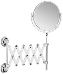Brushed Gold Unlacquered Extending mirror, plain / magnifying (x5)