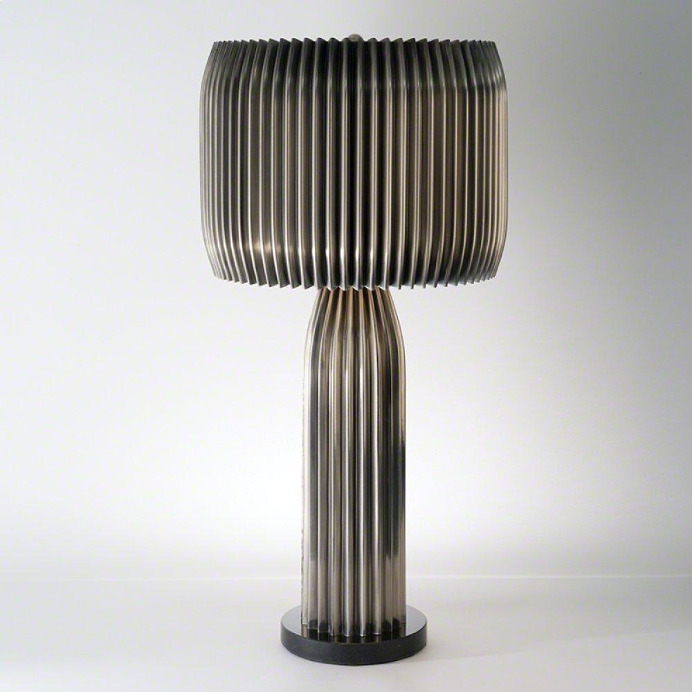 Crimp Table Lamp-Antique Nickel