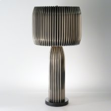Crimp Table Lamp-Antique Nickel