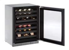 "Modular 3000 Series 24"" Wine Captain® Model With Integrated Frame Finish and Field Reversible Door Swing"