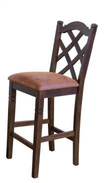 Dbl Crossback Barstool/cushion Seat
