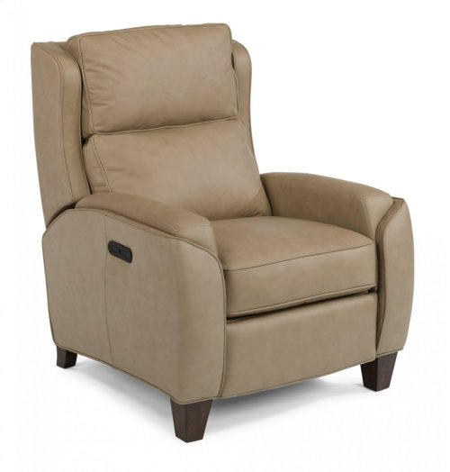 Rose Leather Power High-Leg Recliner with Power Headrest