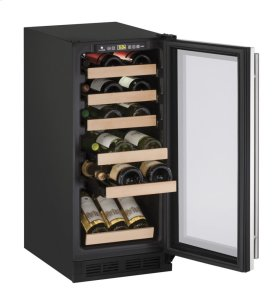 "1000 Series 15"" Wine Captain® Model With Stainless Frame Finish and Field Reversible Door Swing"