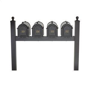 Multi Mailbox Quad Package - Black Product Image
