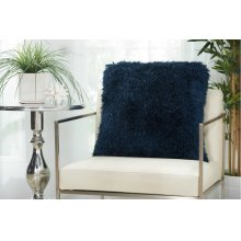 "Shag Tl004 Navy 20"" X 20"" Throw Pillows"