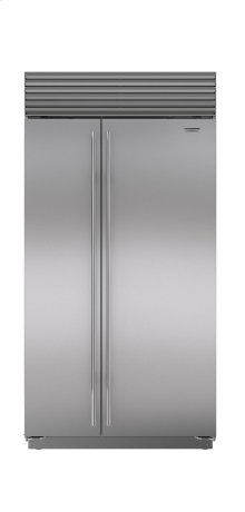 "42"" Built-In Side-by-Side Refrigerator/Freezer with Internal Dispenser"