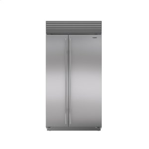 "Subzero42"" Built-In Side-by-Side Refrigerator/Freezer with Internal Dispenser"