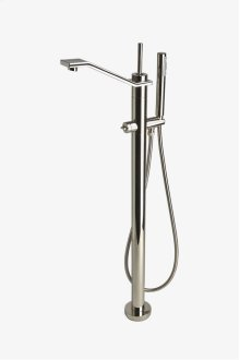 Formwork Floor Mounted Exposed Tub Filler with Handshower and Metal Joystick Handle STYLE: FMXT90