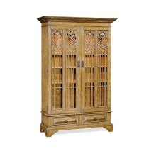 Gothic Natural Oak Display Cabinet