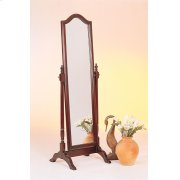 Traditional Red Brown Floor Mirror Product Image
