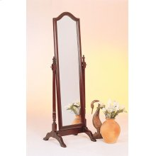Traditional Red Brown Floor Mirror