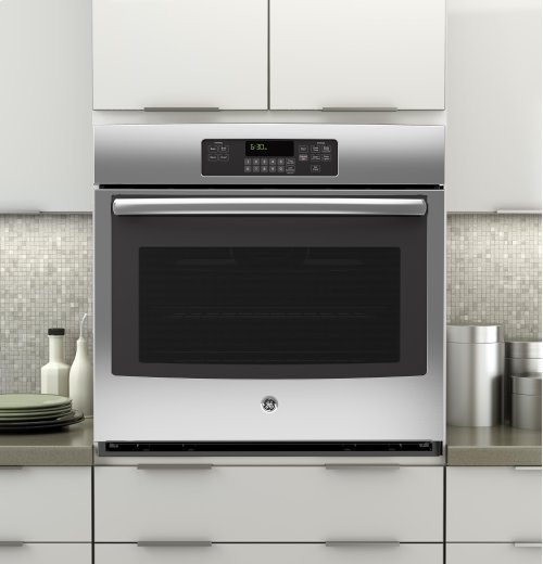 "SAVE BIG - FLOOR MODEL CLEARANCE - BRAND NEW NEVER USED - FULL WARRANTY ...GE® 30"" Built-In Single Wall Oven - MODEL JT3000SFSS"