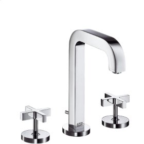 Chrome Widespread Faucet Set with Cross Handles