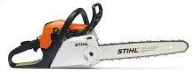 A chainsaw with reduced-emission engine technology, STIHL Easy2Start™ and Quick Chain Adjuster.