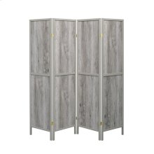 Rustic Grey Driftwood Four-panel Screen