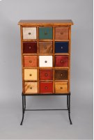 """#149 15 Drawer Apothecary on Iron 20""""wx10.5""""dx42""""h. Product Image"""