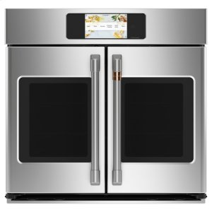 "Cafe AppliancesCaf(eback) Professional Series 30"" Smart Built-In Convection French-Door Single Wall Oven"