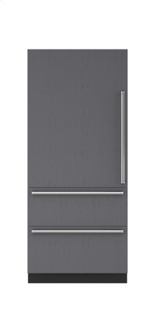 """Clearance Model - One of a Kind - 36"""" Integrated Over-and-Under Refrigerator Internal Dispenser - Panel Ready"""