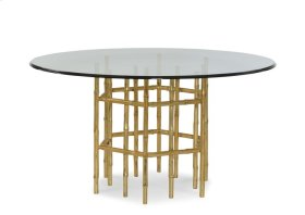 """Jasper Dining Table With 54"""" Tempered Glass Top"""