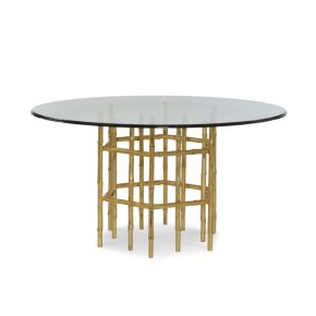 "Jasper Dining Table With 54"" Tempered Glass Top"