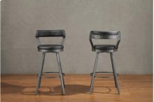 Swivel Counter Height Chair, Black