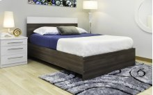 White and Walnut Bed