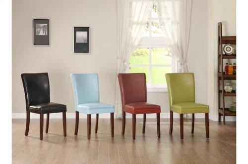 Counter Height Chair, Sky-Blue Bi-Cast Vinyl