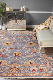 Nourmak S172 Blue Rectangle Rug 3'10'' X 5'10''