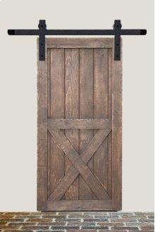 5' Barn Door Flat Track Hardware - Rough Iron Basic Style