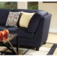 Keaton Transitional Midnight Blue and Black Corner Wedge